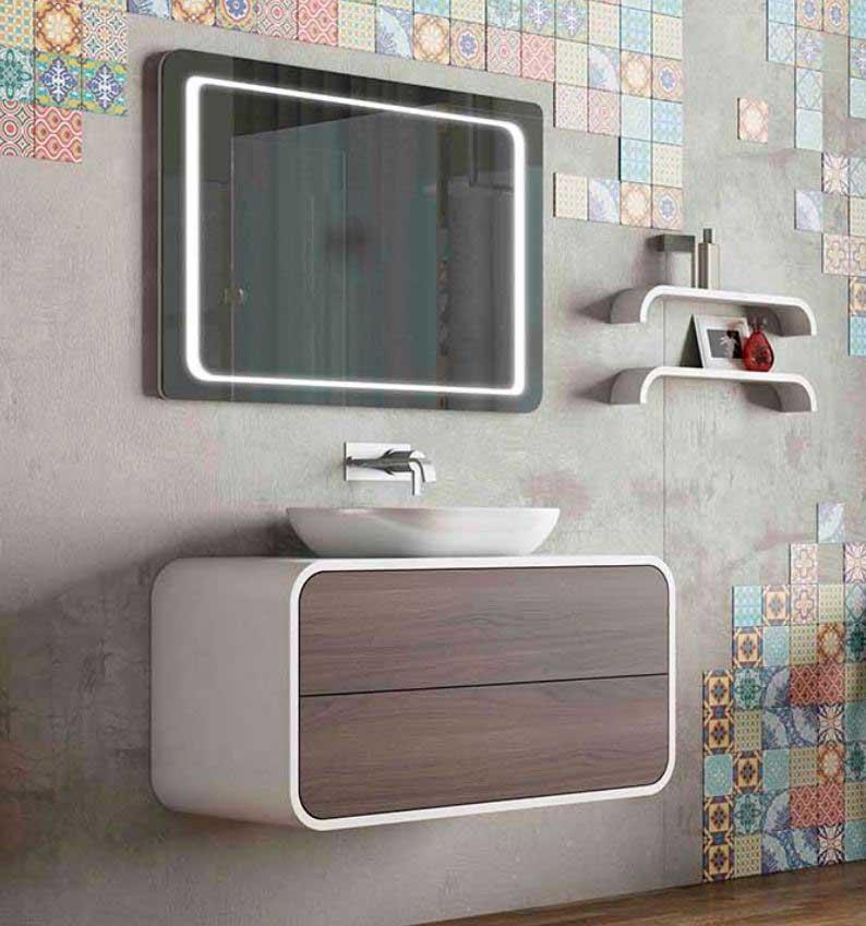 Luces en mobiliario de baño